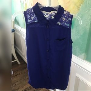 4/$30 H&M Girls 8/9 Royal Blue Sleeveless Top